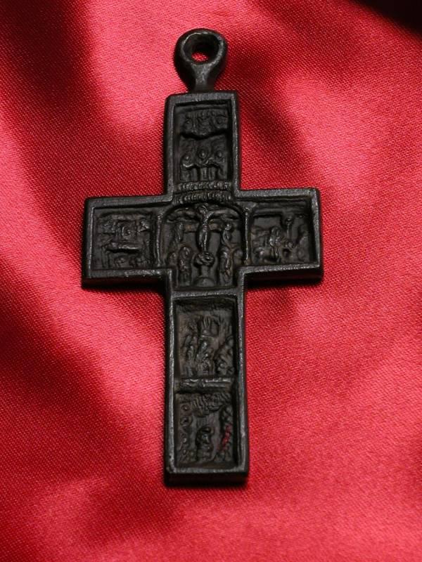 """Croce decorata con quadri """" Via Crucis"""""""