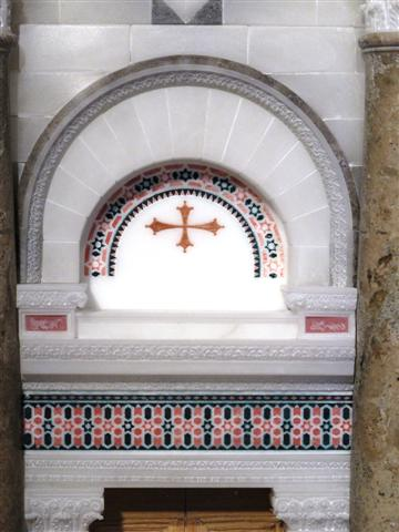 Particolare del mosaico del portale